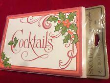 "Vintage Hallmark Invitations CHRISTMAS Holiday ""Cocktails"" SEALED 1 pack of 8"