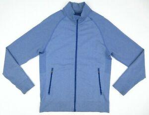 Men's Lululemon Pulse Jacket Heathered Riviera Blue Size LARGE MINT!