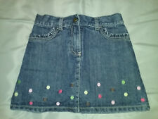 Gymboree TEA FOR TWO Denim Dot Skirt 6