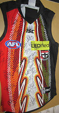 ST.KILDA FC 2014 INDIGENOUS JERSEY SIGNED - COA AND PHOTO PROOF OF  SIGNING