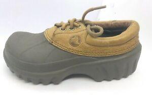 Crocs Mens Leather Islander Boat Rubber Water Lace Up Shoes Sz 2 Men Sz 4 Womens