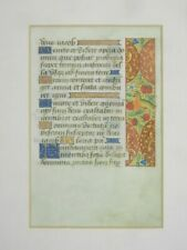 MEDIEVAL ILLUMINATED MANUSCRIPT LEAF FROM A BOOK OF HOURS CIRCA 1450