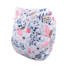 Alva Cloth Diapers One Size Reusable Washable Pocket Nappy +1Insert Fit 6-33lbs