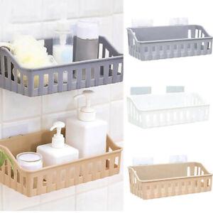 Bathroom Kitchen Shelf Suction Cup Rack Organizer Storage Shower Wall Basket