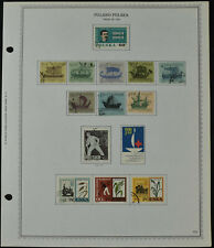 Poland 1963 Page Of Stamps #V10505