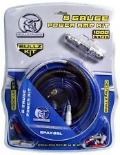 BULLZ AUDIO 8 Gauge Car Amplifier Amp Installation Power Wiring Kit   EPAK8BL