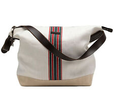 New Authentic GUCCI Mens Large Canvas Messenger Shoulder Bag w/Web, 308838