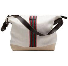 New Authentic GUCCI Mens Large Canvas Messenger Shoulder Bag w/Web, 308838