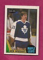 1987-88 OPC # 242 LEAFS KEN WREGGET GOALIE  ROOKIE NRMT+  CARD (INV# 9078)