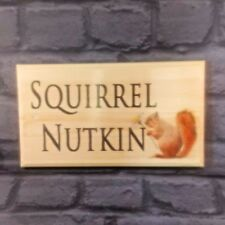 Large Personalised Squirrel Plaque / Sign - Garden Cottage Farm House Name