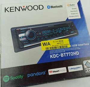 Kenwood KDC-BT772HD Single DIN CD Car Stereo Receiver with Bluetooth and HD-Radi