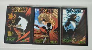 Shadows of Spawn Volume 1 2 3 complete English set Juzo Tokoro Manga Signed