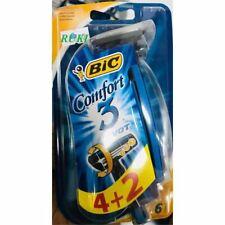 BIC Comfort 3 Disposable Razor, Men, 6-Count 3 Lames-Lot de 6 Jetables