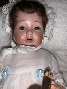 "12"" Sweet Kestner HILDA Baby Mold 237 Original Bisque Head Circa 1914"