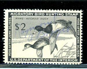 US Duck Scott # RW21 - Used - CV=$10.00 - Signed
