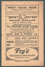 """Bristol, Prince's Theatre, 1924, """"King of Golden Mountain"""", Dick Evans, Yc45"""