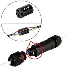 1x 3 Core Assemblé IP68 Câble Connecteur Étanche Électrique Jonction Extérieur