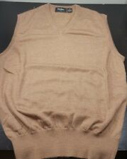 NEIMAN MARCUS Exclusive-Vicuna Wool/Silk/Cashmere, Men's V.Neck Sweater Vest-(M)