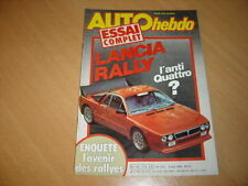 Auto hebdo N°316 Lancia Rally Gr B.Rallye Ile d'Elbe