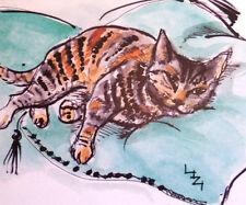 "KD11 COOL CAT! ""KATZNDOGZ!"" BY LIZZIE HUXTABLE DESIGN;EXERCISE HUMOUR;TABBY;ART"