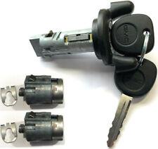 GMC Ignition Switch Lock Cylinder + Pair Door Lock Cylinders W/2 GMC Logo Keys
