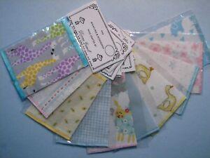 "Dollhouse Miniature Wholesale Lot Of 10 Crib Blankets 2 1/2"" x 3 1/2"""