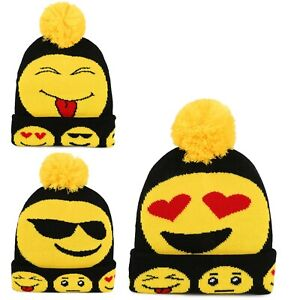 KIDS GIRLS AND BOYS WARM WINTER BEANIE THERMAL INSULATED HAT