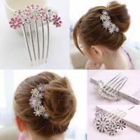 Beautiful Crystal Rhinestone Decorate Women Hair Clip Flower Fashion Headress