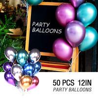 """50x 12""""Ballon Métalliques Latex Bouquet Ballon Fête anniversaire Mariage BR"""