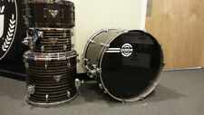 Dixon Artisan Star Dust Black 4 Piece Drum Set kit W/ Equator Snare