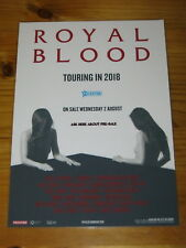 ROYAL BLOOD - 2018 Australia Tour - Laminated Promo Tour Poster