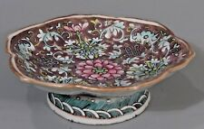 China Chinese Bats & Lotus Decor Porcelain Pedestal Bowl Yongzheng 1723-1735