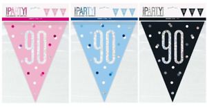 Foil Banner Glitz Birthday Party Banners Milestone 9ft Decorations 13th-80th
