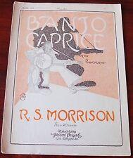 R.S. MORRISON Banjo Caprice ASSOLO DI PIANOFORTE SPARTITO (1922) Stati Uniti