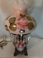 Antique Hand Painted GWTW Hurricane Parlor Lamp
