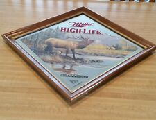 "Miller High Life Beer Mirror ""Challenge "" Elk"