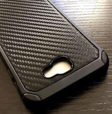 For Samsung Galaxy J5 Prime - HARD TPU HYBRID ARMOR SKIN CASE BLACK CARBON FIBER