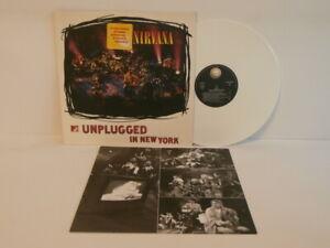 90s Grunge Rock NIRVANA unplugged new york 1994 UK White Vinyl LP + Inner Mint