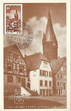 SAAR : 1950  400th Anniversary of Ottweiler stamp on Maxi Card- pictorial cancel
