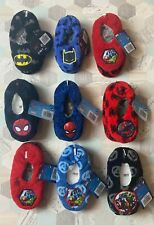 Boys Marvel DC Slippers Spider-Man Batman Avengers Size UK 8-9 / 10-11 / 12-13