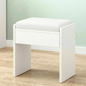 Vintage Dressing Table Stool Makeup Bench Chair Soft Padded Cushion Piano Seat
