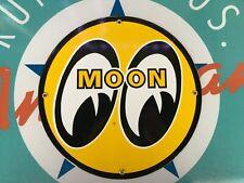 classic MOON EYES speed equipment company - PORCELAIN COATED 18 ga METAL SIGN