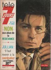 Télé 7 Jours N° 804/1975 - Alain Delon Désirée Clary Claudia Cardinale B. Pivot