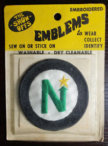 1970's NHL Minnesota North Stars The Show-Offs Embroidered Emblems New Packaged