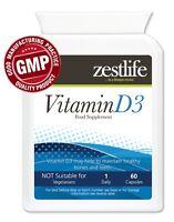 Zestlife Vitamin D3 5000iu 60 capsules calcium, healthy bones & immune system