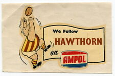 """Old AMPOL Gas Station Giveaway: Football Team Decal - """"Hawthorn"""" [Australia]"""