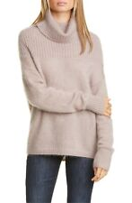 Lewit Pink Fawn Oversize Cowl Neck Mohair & Silk Blend Sweater Size XXL 2XL