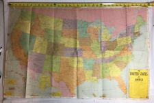 Vtg Large Us Map 1963 United States Schoolroom 36 x 24""