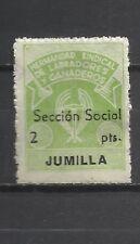 1517-SELLO LOCAL GUERRA CIVIL MURCIA JUMILLA FALANGE SECCION SOCIAL CNS 2 PTS