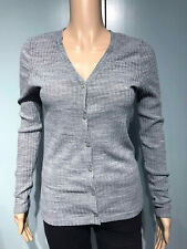 VERO MODA size M - ladies longline cardigan - grey ribbed